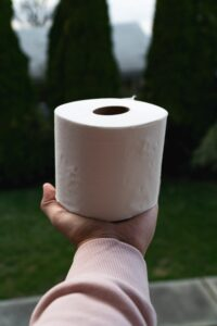Toilet paper, aka TP, is in high demand.
