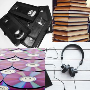 Books, music, videos and DVDs