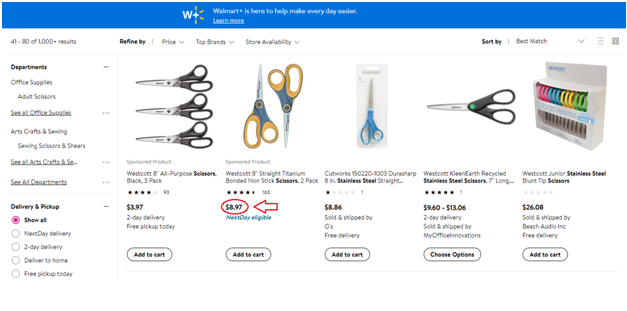 Essence of online arbitrage - Search for products on stores like Walmart