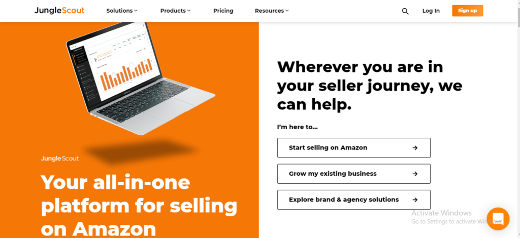 Amazon seller tool: JungleScout